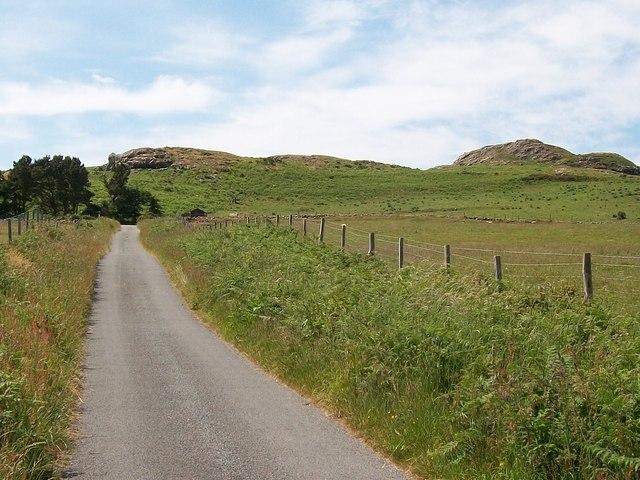 Country road below Garn Saethon Hill