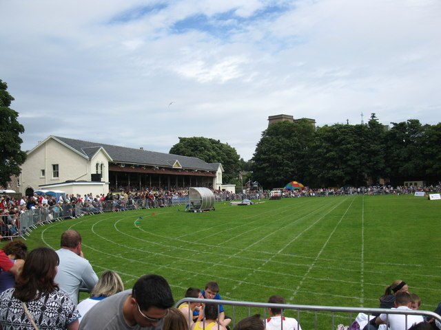 The Highland Games taking place in Inverness