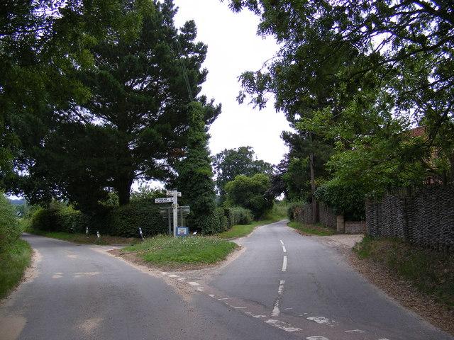 Glemham Road junction, Sweffling