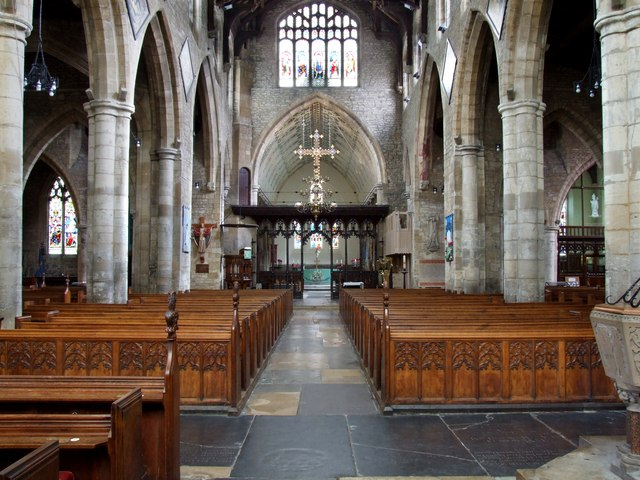 The Interior of the Church of St Mary and St Nicolas, Spalding