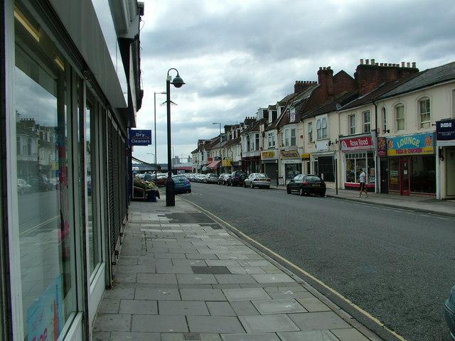 Shops in Victoria Road, Woolston
