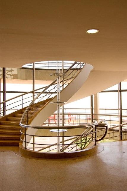Spiral staircase, De La Warr Pavilion, Bexhill