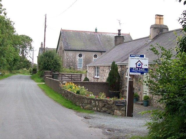 Chapel and cottages at  the hamlet of Boduan