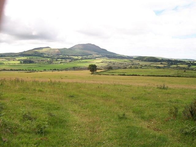 Farmland west of Hendre