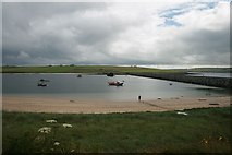 ND4798 : Beach at Weddell Sound and Churchill Barrier No. 3, Orkney by Becky Williamson