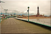 SD3036 : Blackpool: View along the North Pier by Eugene Birchall