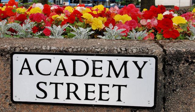 Academy Street sign, Belfast