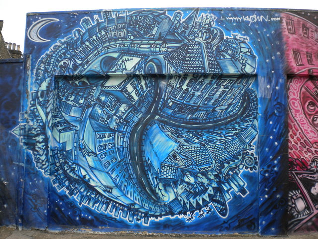 Brockley Station Mural, Coulgate Street SE4