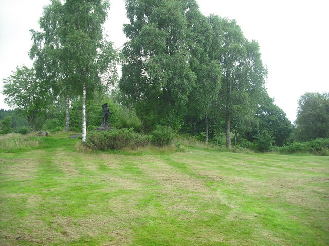 View to Lumberjill statue