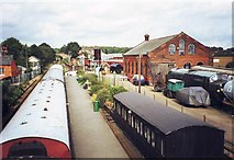 TL8928 : Chappel and Wakes Colne Railway Station, Essex by nick macneill