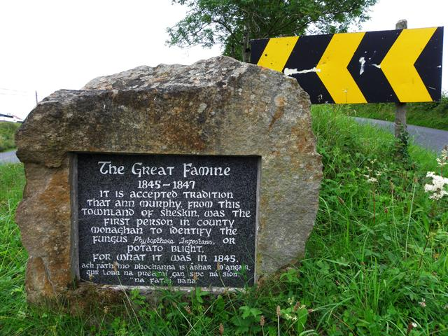 Plaque, The Great Famine