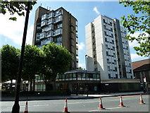 TQ3179 : Towerblocks in Lambeth Road by Basher Eyre