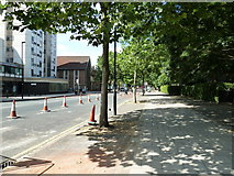 TQ3179 : Pavement in Lambeth Road by Basher Eyre