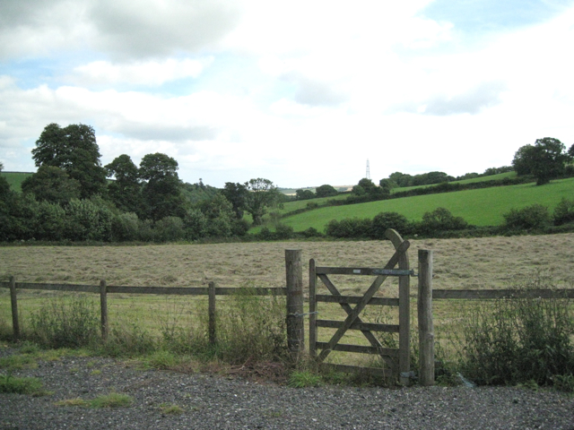 Mown field by Rattery Village Hall