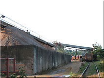 TG2407 : Train loading ballast at Lafarge Aggregates, Trowse by Evelyn Simak