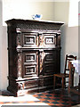 TG1712 : St Edmund's church in Costessey - Jacobean cupboard by Evelyn Simak