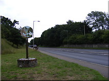 TG1807 : B1108 Watton Road & Colney Village Sign by Adrian Cable