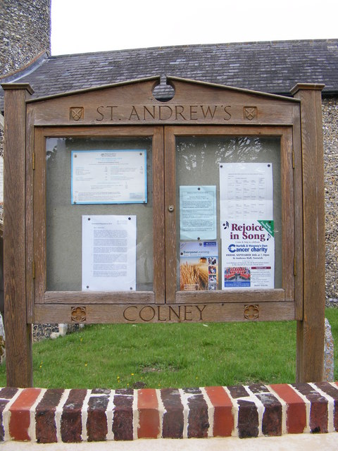 St.Andrews Church Notice Board, Colney