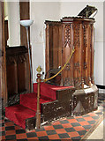 TG1508 : The church of SS Mary and Walstan in Bawburgh - the pulpit by Evelyn Simak
