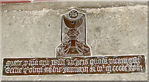 TG1508 : The church of SS Mary and Walstan in Bawburgh - memorial by Evelyn Simak