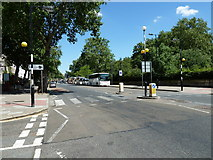 TQ3179 : Zebra crossing nearing the Imperial War Museum by Basher Eyre