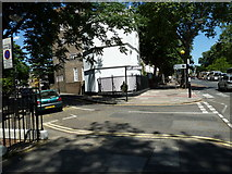TQ3179 : Junction of King Edward Walk and Lambeth  Road by Basher Eyre