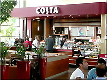 SK4625 : Costa coffee shop at Donnington Park Services by Jonathan Billinger