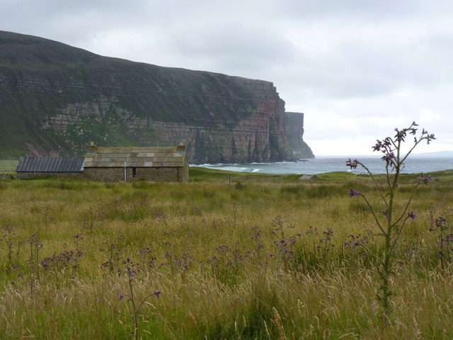 Cottage and cliffs, Rackwick, Hoy, Orkney by Becky Williamson