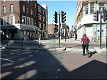TQ3179 : Looking across Westminster Bridge Road across to Lower Marsh by Basher Eyre