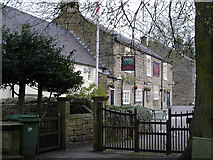 SK3463 : Ashover - Crispin Inn from churchyard by Dave Bevis
