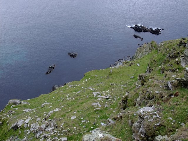 Looking down into Scarfi Taing