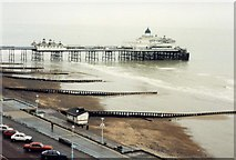 TV6198 : A wet winter day on Eastbourne promenade and beach by David Gearing