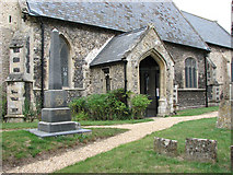 TL7388 : The church of St James in Wilton - war memorial by Evelyn Simak