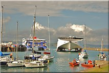 SY6878 : Weymouth: Channel Hydrofoil returns to Port by Mr Eugene Birchall