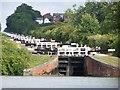 ST9761 : Caen Hill sixteen locks, from the bottom by David Martin