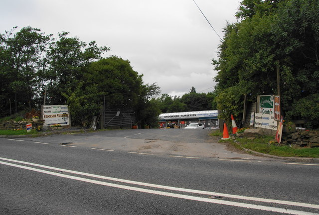 The Entrance To Brookside Nurseries