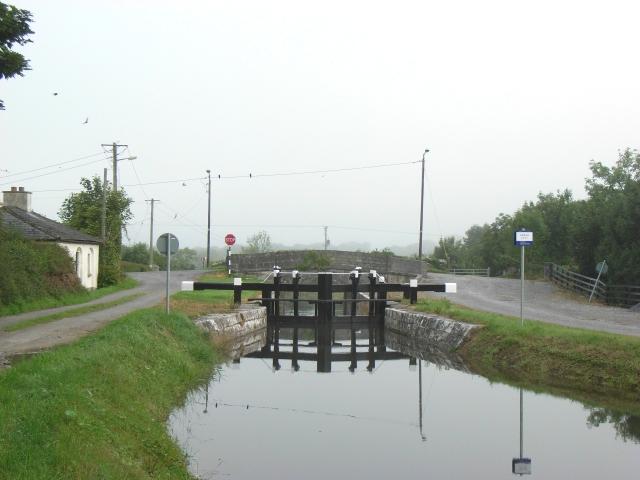 Lock No. 43 on the Royal Canal at Aghnaskea, near Killashee, Co. Longford