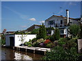 SJ4564 : House with boathouse, Shropshire Union Canal by John Brightley