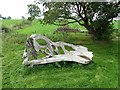 NY4043 : Rustic seat, High Head Sculpture Valley by Oliver Dixon