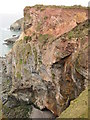 SW7252 : Cliffs east of Trevellas Porth by Philip Halling