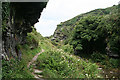 SX0789 : Tintagel: footpath in Rocky Valley by Martin Bodman