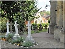 SP4540 : Three crosses by the church by Bill Nicholls