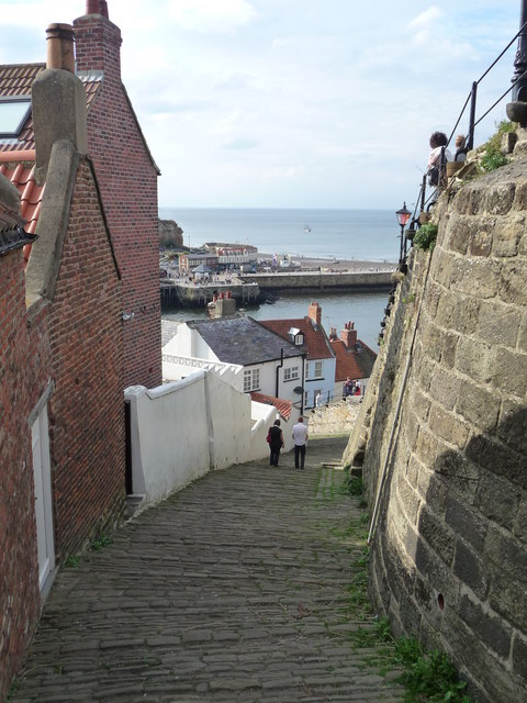 Whitby path to the abbey