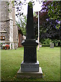 TM4261 : War Memorial at St.Lawrence Church by Adrian Cable