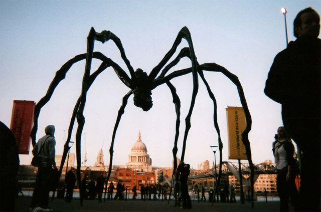 St Paul's Cathedral through Giant Spider Sculpture Tate Modern