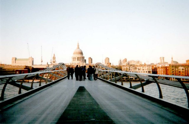 The Millennium Bridge looking towards St Paul's