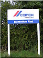 TM4164 : Cemex Plant Sign by Geographer