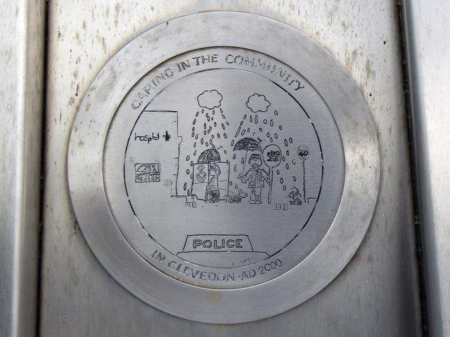 Plaque, Millennium Celebration Monument, Clevedon