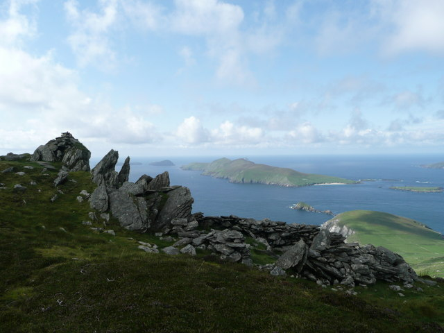 View over Binn an Choma towards the Blasket Islands