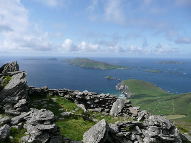 Binn an Choma, looking towards Dunmore Head and Blasket Islands